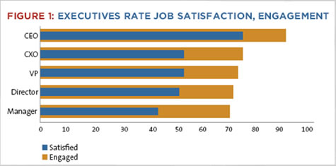 Executives rate job satisfaction, engagement